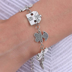 Engraved Charm Family Bracelet , bracelet - ornacraft