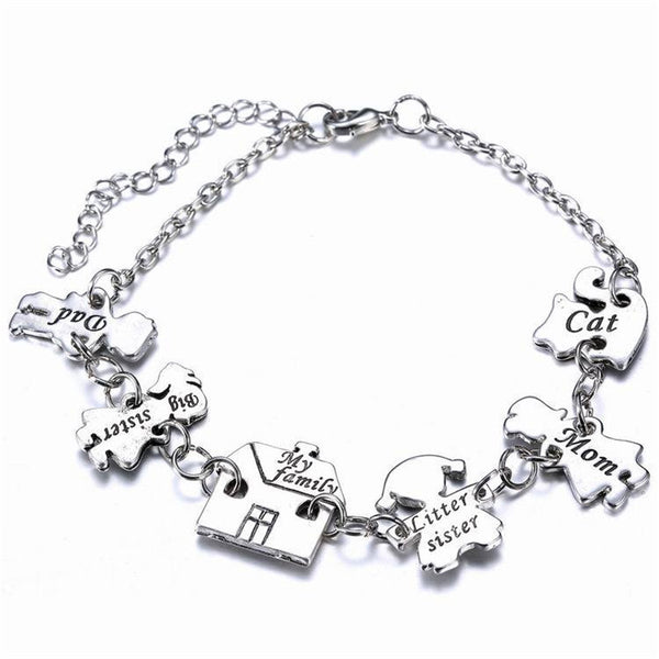 Engraved Charm Family Bracelet