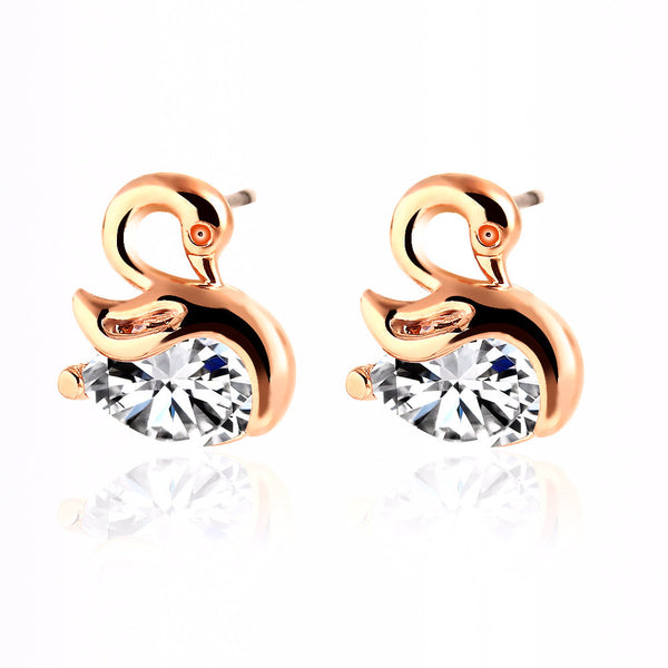 High Quality Crystal Swan Earrings