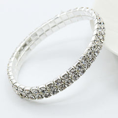 Elegant Full Drill Crystal Stretch Bangle Bracelet [Multiple Options] , bracelet - ornacraft