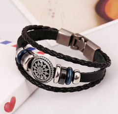 Harajuku Vintage Leather Bracelet , bracelet - ornacraft