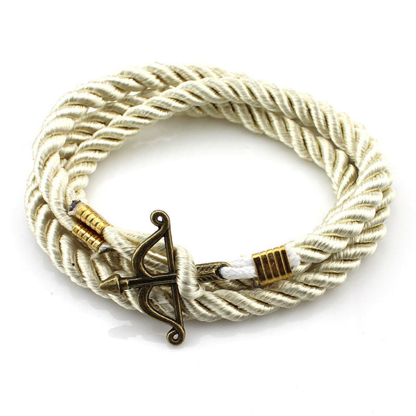Cupid Bow And Arrow Rope Bracelet [Multiple Colors] , bracelet - ornacraft