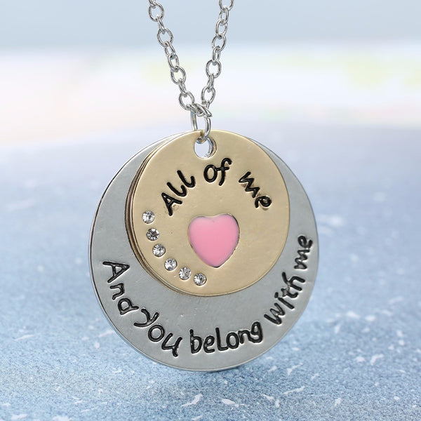 Engraved Romantic Couple Necklace , necklace - ornacraft