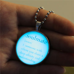 Creative Glow Quote Necklace , necklace - ornacraft