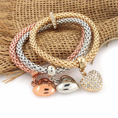 Three Colors Suit Elastic Corn Chain Bracelet , necklace - ornacraft