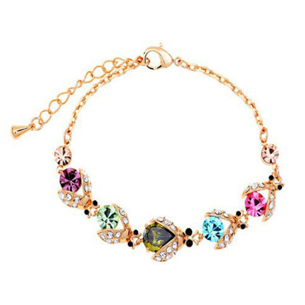 Colorful Crystal Anklet Bracelet