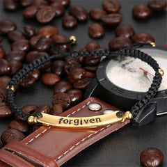 """Forgiven"" Hand-Woven 18k Gold Plated Bracelets , bracelet - ornacraft"