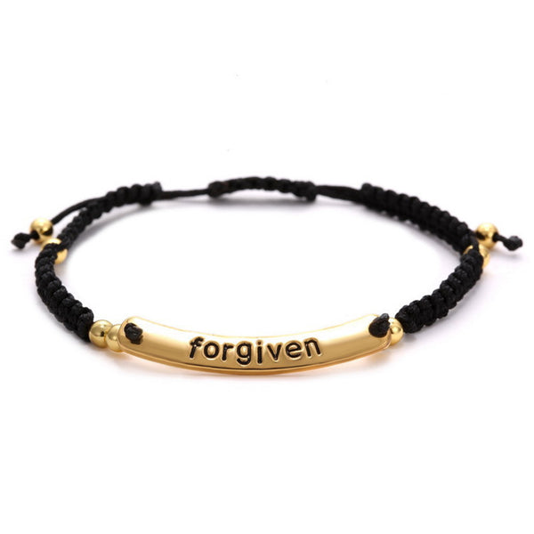 """Forgiven"" Hand-Woven 18k Gold Plated Bracelets"