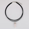 Crystal Multilayer PU Leather Choker Necklace