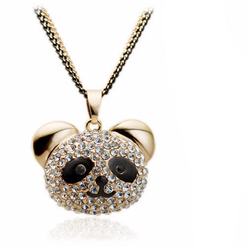 Crystal Panda Pendant Necklace