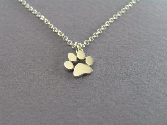 Cat and Dog Paw Choker Necklace