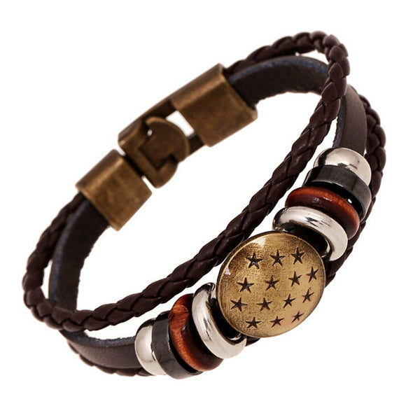 All Stars Charms Leather Braid Bracelet