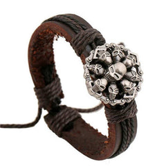 Multiple Stamps Leather Bohemian Bracelet [Multiple Options] , bracelet - ornacraft