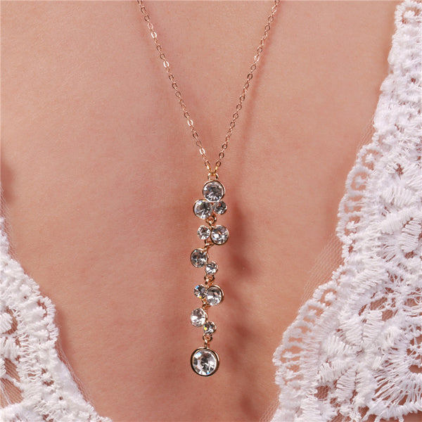 Backdrop Crystal Pendant Necklace