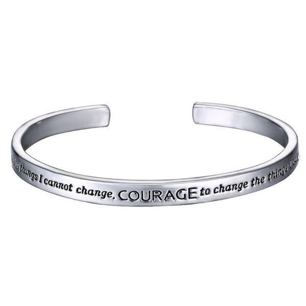 Hand Stamped Courage Bangles Bracelets