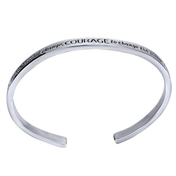 Hand Stamped Courage Bangles Bracelets , bracelet - ornacraft