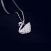 Sparkling Crystal Swan Pendant Necklace