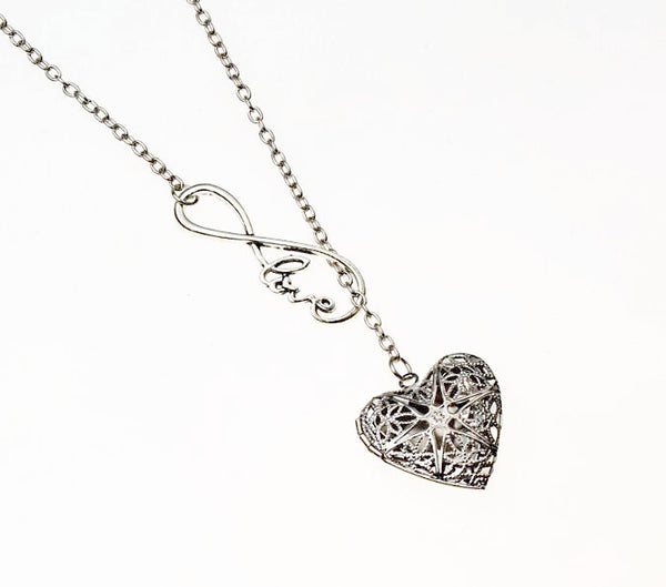 Love Infinity Essential Oil Diffuser Locket Necklace