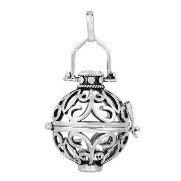 Eudora Harmony Bola Cage Essential Oil Diffuser Locket Necklace , necklace - ornacraft