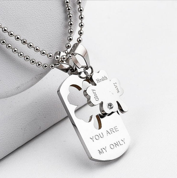 "Quote ""You Are My Only"" Share Pendant Necklace , necklace - ornacraft"