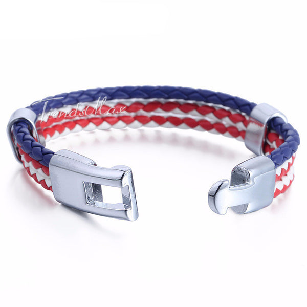 US Proud Handmade Leather Bracelet , bracelet - ornacraft