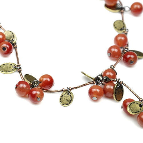 Vine Red Cherry Necklace