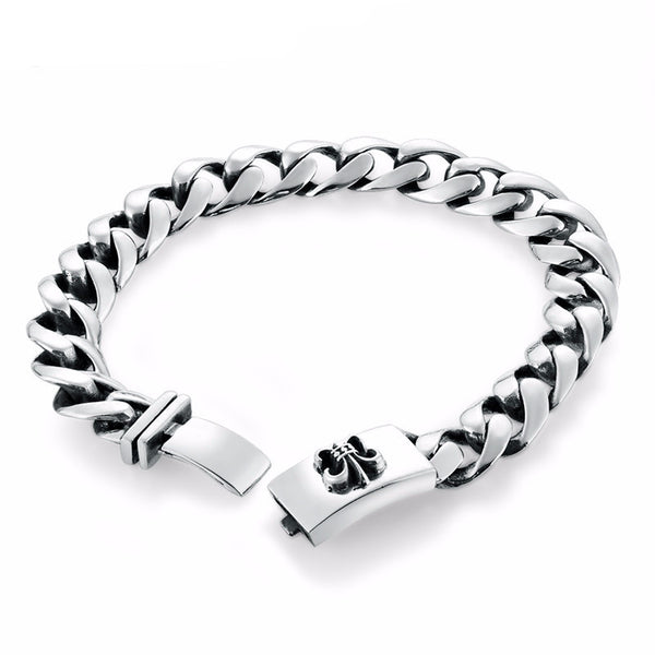 Anchor Army Flower Premium Silver Luxury Bracelet