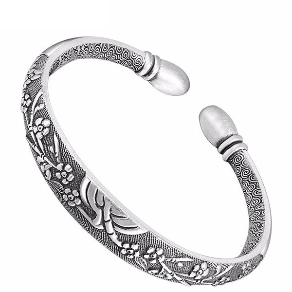 Premium Lushberry Bloom Luxury Sterling Silver Bracelet