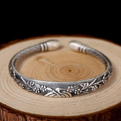 Premium Lushberry Bloom Luxury Sterling Silver Bracelet , bracelet - ornacraft