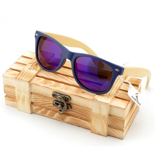 Natural Bambusa Polymorpha Bamboo Wood Sunglasses [4 Variants]
