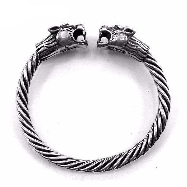 Premium Silver Tigress Head Bangle Luxury Bracelet , bracelet - ornacraft