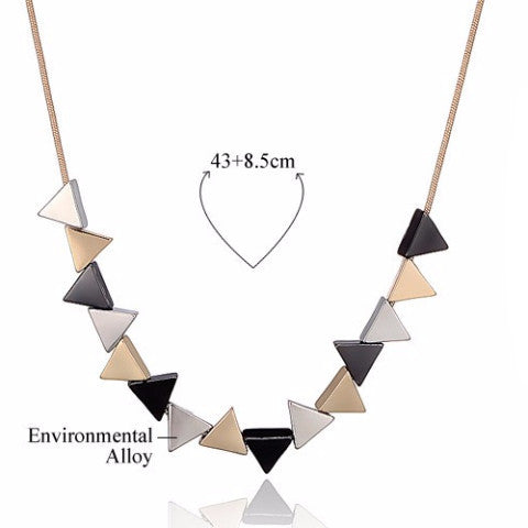 Geometric Triangle Shaped Pendant Necklace , necklace - ornacraft