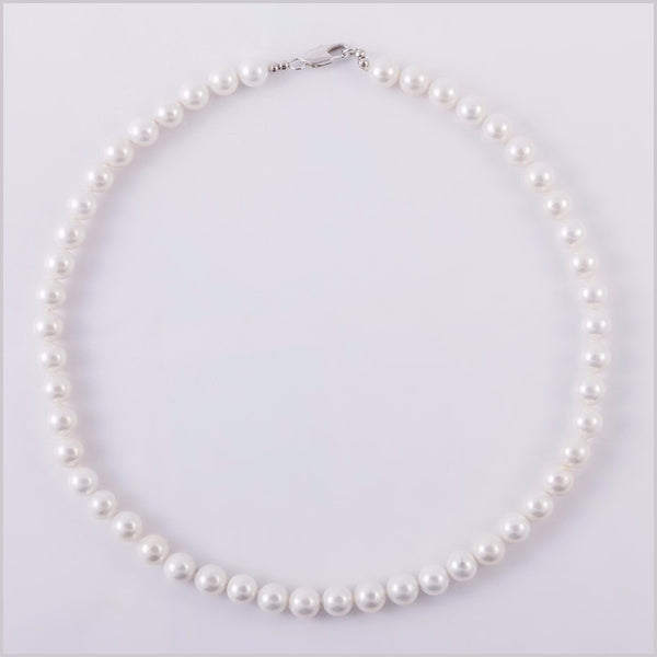 Simple Elegant Pearl Necklace [Beige, Pink and White]