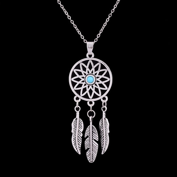 Antique Feather Dreamcatcher Reiki Necklace