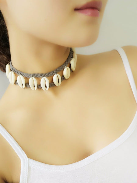 Cowry Shell Choker Beach Necklace