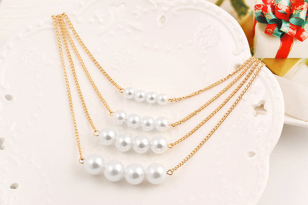 Multilayer Pearl Necklaces
