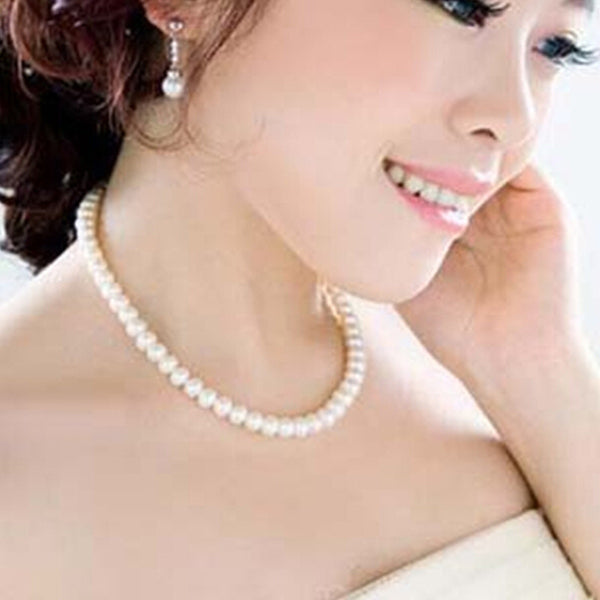 Simple Elegant Pearl Necklace [Beige, Pink and White] , necklace - ornacraft