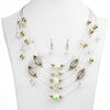 Multicolor Crystal Gem Multilayer Necklace