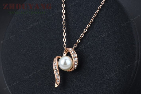 Designer Pearl Pendant Necklace , necklace - ornacraft