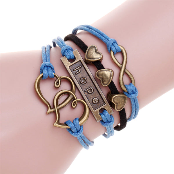 Owl Engrave Charm Leather Bracelet [19 variants] , bracelet - ornacraft