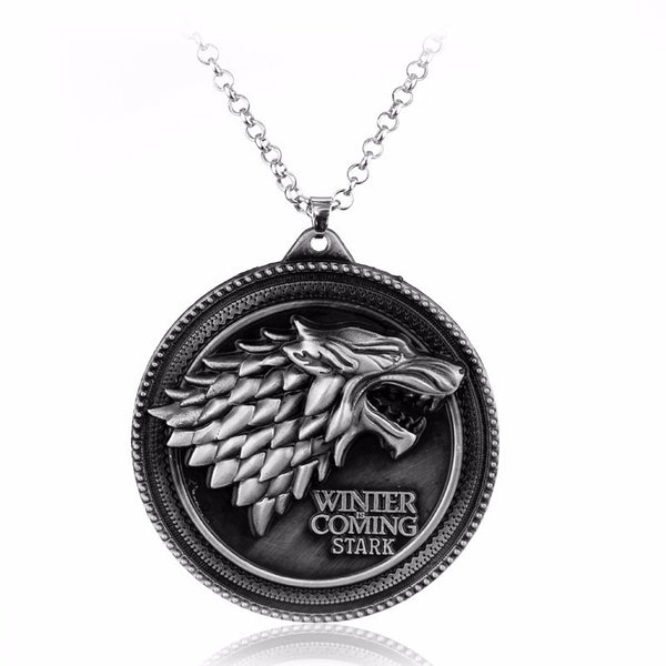 Game of Thrones House Stark pendant Necklace , necklace - ornacraft