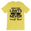 Know Your Limits But Never Accept Them