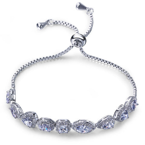 Multi Shape Platinum & Gold Bracelet