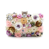 Elegant and Versatile Embroidered Floral Clutch