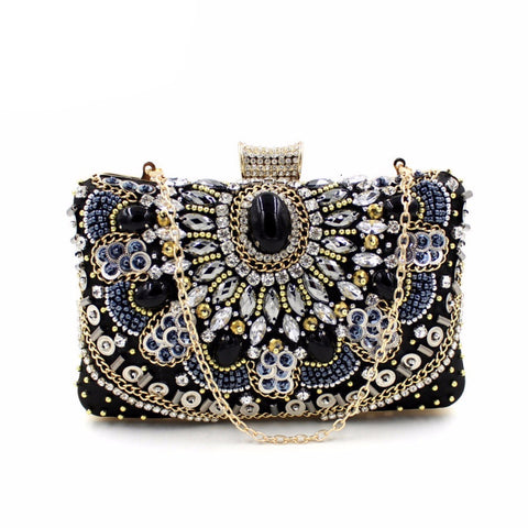 European Diamond Beaded Evening Clutch