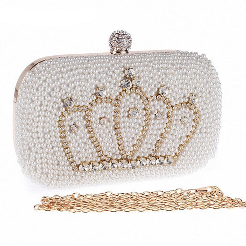 Imperial Crown Pattern Luxury Crystal Clutch