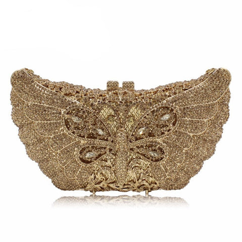 Dragonfly Crystal Evening Clutches