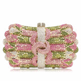 European Style Women Evening Crystal Clutch