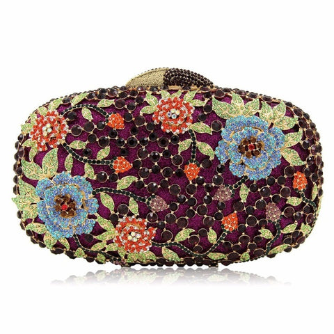 Evening Flower Crystal Bag/Clutch