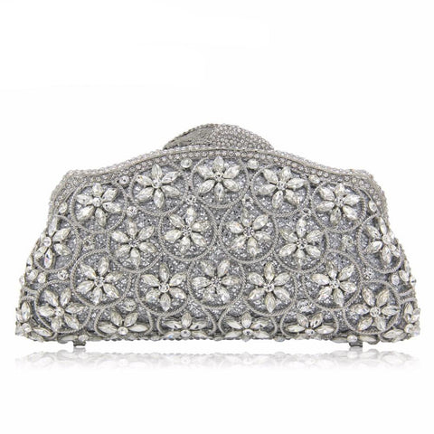 Luxurious Flower Crystal Banquet Evening Bag/Clutch